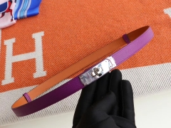 客定、H家kelly腰带 epsom 燕尾紫 银扣(可调节款)