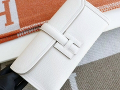 爱马仕 CC10奶昔白 29CM jige手包 原厂Epsom手掌纹 顶级纯手缝蜡线