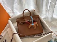 优雅 自信与魅力! CK37金棕 银扣 birkin25CM 原厂Togo皮 铂金包 纯手缝蜡线缝制工艺