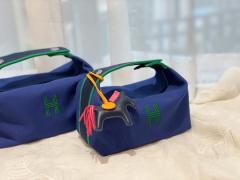 AMS 最新的小爆款 洗漱包又叫饭盒包 非常的精致可爱 可拎可挽容量大 价格也是很亲民  宝石蓝
