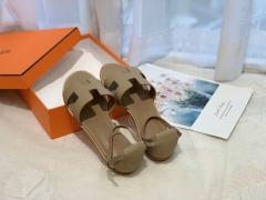 H凉鞋 工坊进口欧洲原A级底 进口法国Epsom皮渠道原厂皮 垫脚:纯进口意大利 混种环保山羊皮 size:34-41